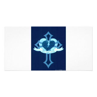 Love Heals Surely - Blue Effect Photo Greeting Card
