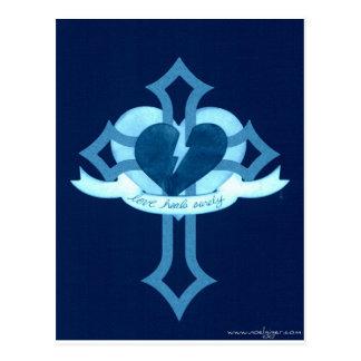 Love Heals Surely - Blue Effect Postcard