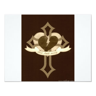 Love Heals Surely - Sepia Effect Card