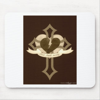Love Heals Surely - Sepia Mouse Pad
