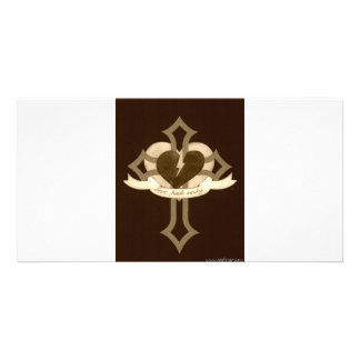 Love Heals Surely - Sepia Photo Card Template