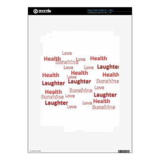 love health laughter sunshine decal for the iPad 2