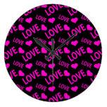 Love Heart 1 Pink Clocks