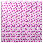 Love Heart 1 Pink Cloth Napkin