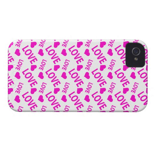 Love Heart 1 Pink iPhone 4 Cover