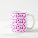 Love Heart 1 Pink Mugs