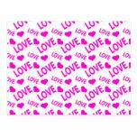 Love Heart 1 Pink Postcard