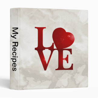 Love Heart 3 Ring Binder