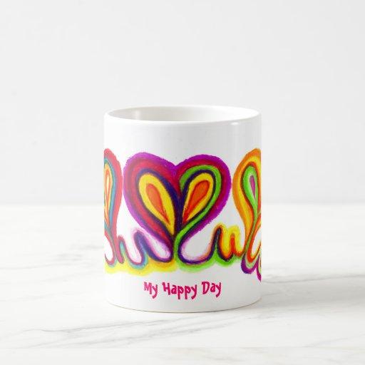 Love Heart Abstract Kite Basic White Mug