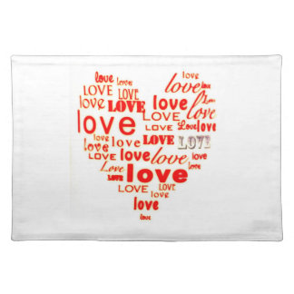 Love Heart American MoJo Placemats Cloth Placemat