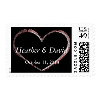 Love Heart Attractive Charming Wedding Postage