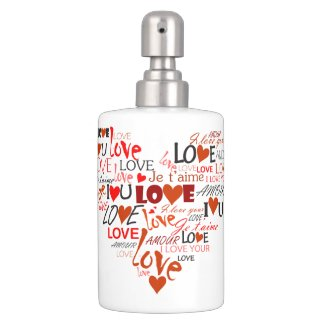 Love Heart Bathroom Set