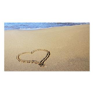 Love Heart Beach Business Card Template
