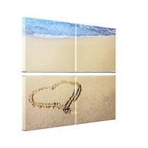 Love Heart Beach Canvas Print
