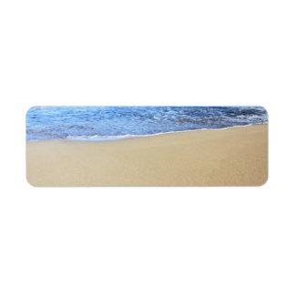 Love Heart Beach Custom Return Address Label