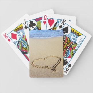 Love Heart Beach Deck Of Cards