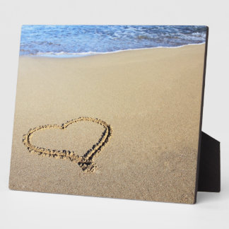 Love Heart Beach Display Plaques