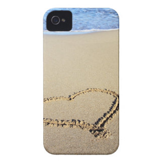 Love Heart Beach iPhone 4 Case-Mate Case
