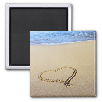 Love Heart Beach Magnet