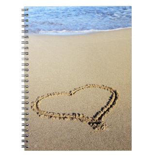 Love Heart Beach Notebook