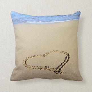 Love Heart Beach Pillow