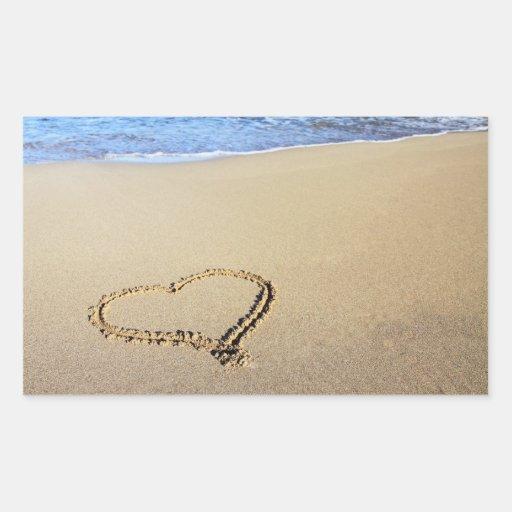 Love Heart Beach Sticker