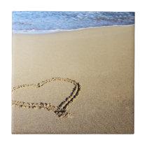 Love Heart Beach Tile