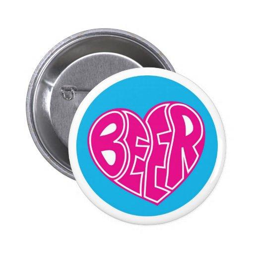 Love heart beer button
