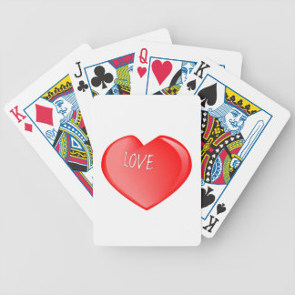 Love Heart Bicycle Playing Cards