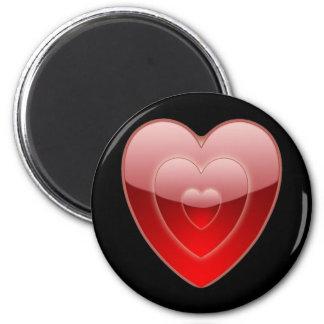 Love Heart Black Magnet