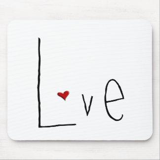 Love Heart black Mousepad