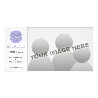 Love Heart Blue Save the Date Card