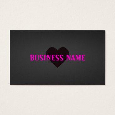 Professional Business Love Heart Business Cards Black and Dark Grey