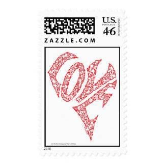 LOVE HEART by NICHOLAS_COPYRIGHT_MINIFACES Postage Stamp