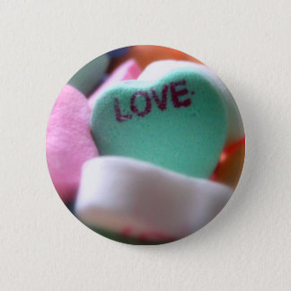 Love Heart Candy Pinback Button