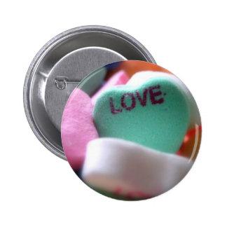 Love Heart Candy Pinback Button