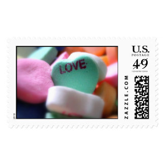 Love Heart Candy Postage Stamp