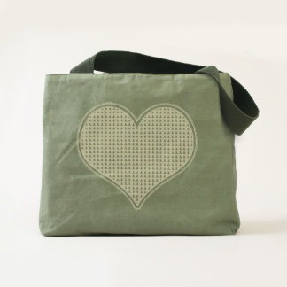 LOVE - Heart -Canvas Utility Tote