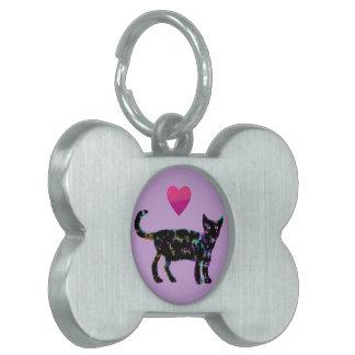 Love Heart Cats Pet Tag