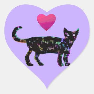 Love Heart Cats Heart Sticker