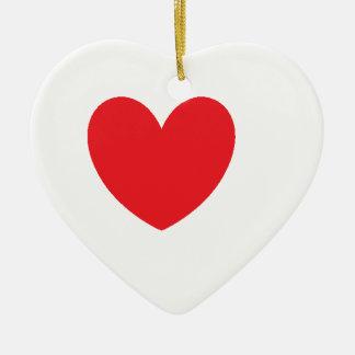 love heart ceramic ornament