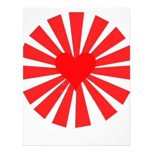 Love Heart Customized Letterhead