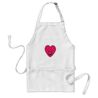 Love Heart cute health indicator design Adult Apron