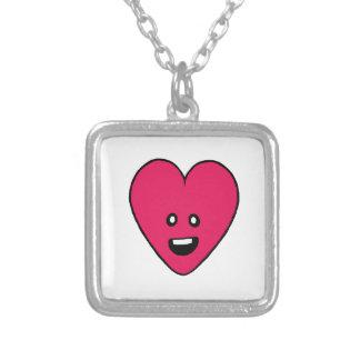 Love Heart cute health indicator design Square Pendant Necklace