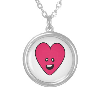 Love Heart cute health indicator design Round Pendant Necklace