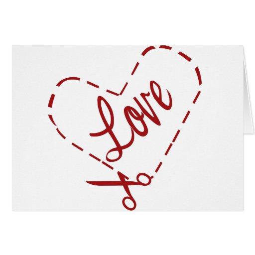 Love Heart Cutout Card