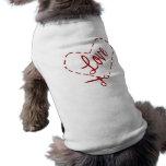 Love Heart Cutout Doggie Tee Shirt
