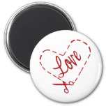 Love Heart Cutout Magnets