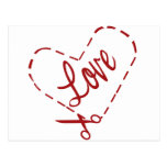 Love Heart Cutout Postcard