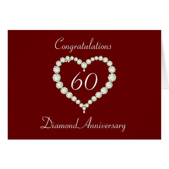 Love Heart Diamond Anniversary Card